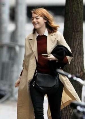 Emma Stone out in Manhattan's West Village