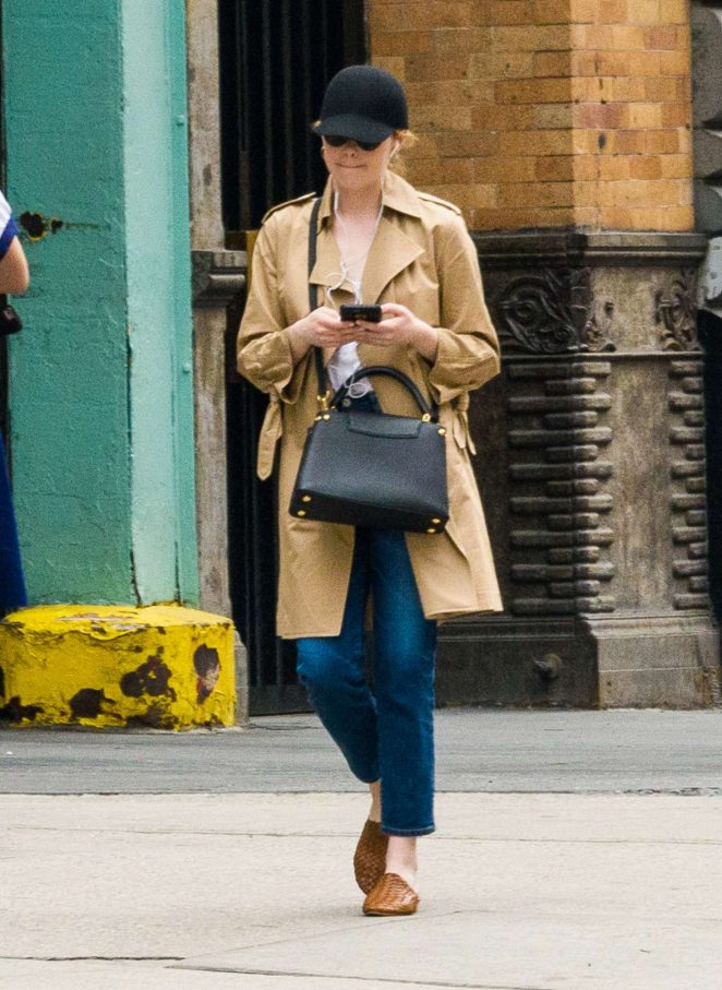 Emma Stone out in New York City