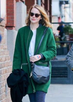 Emma Stone out in NY