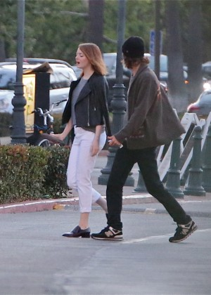Emma Stone - Out in the evening in LA