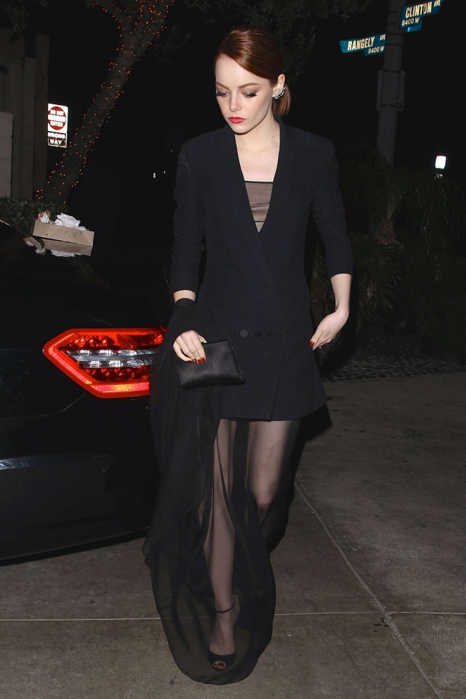 Emma Stone – SAG Dinner Party in Los Angeles