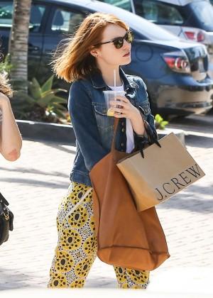 Emma Stone: Shopping at the Malibu Lumber Yard -07