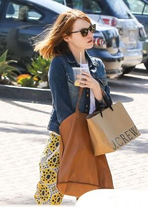 Emma Stone: Shopping at the Malibu Lumber Yard -11