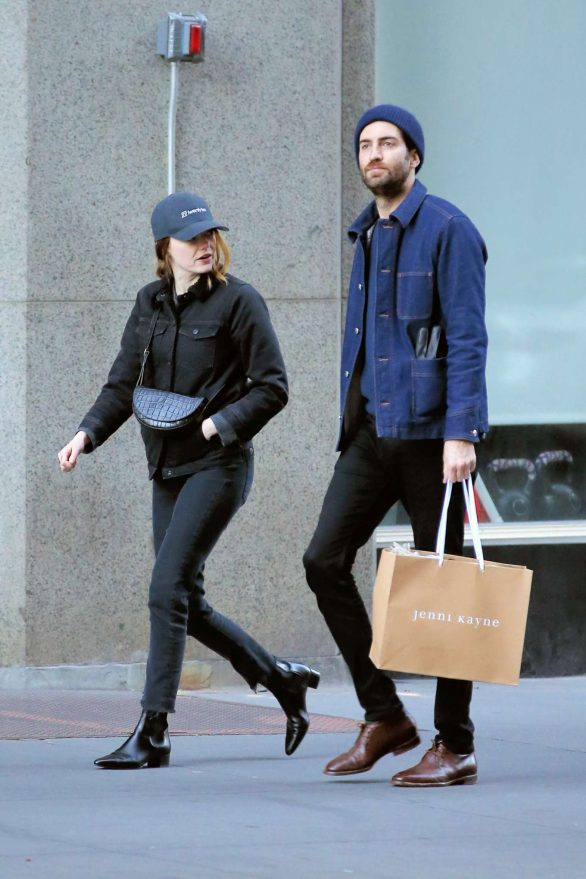 Emma Stone with her boyfriend Dave McCary in New York
