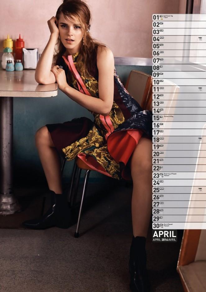 Emma Watson: 2016 Calendar -08 - GotCeleb