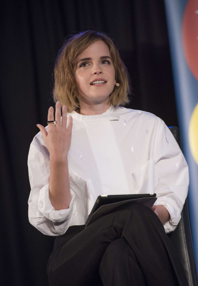 Emma Watson an Evening with Gloria Steinem in London