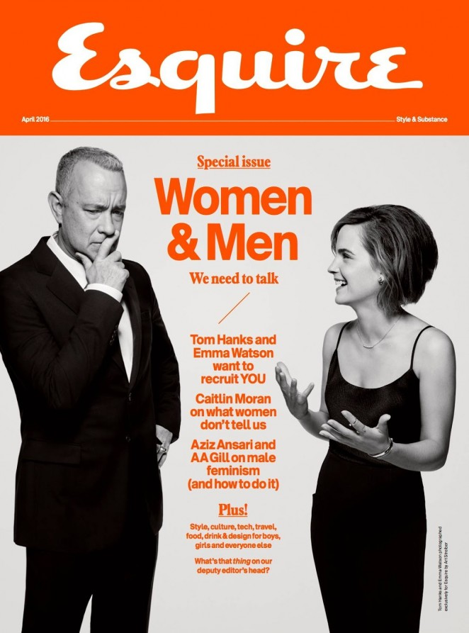 Emma Watson and Tom Hanks - Esquire UK Magazine (April 2016)