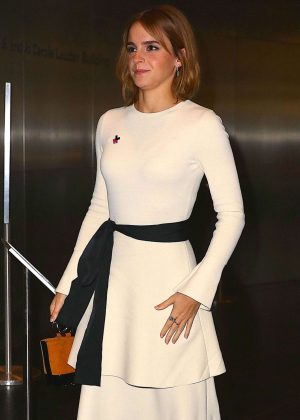 Emma Watson - Arrives at Heforshe 2nd Anniversary Reception in New York