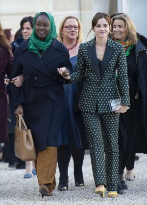 Emma Watson - Arrives at the First Meeting of the G7 Gender Equality Advisory Council in Paris