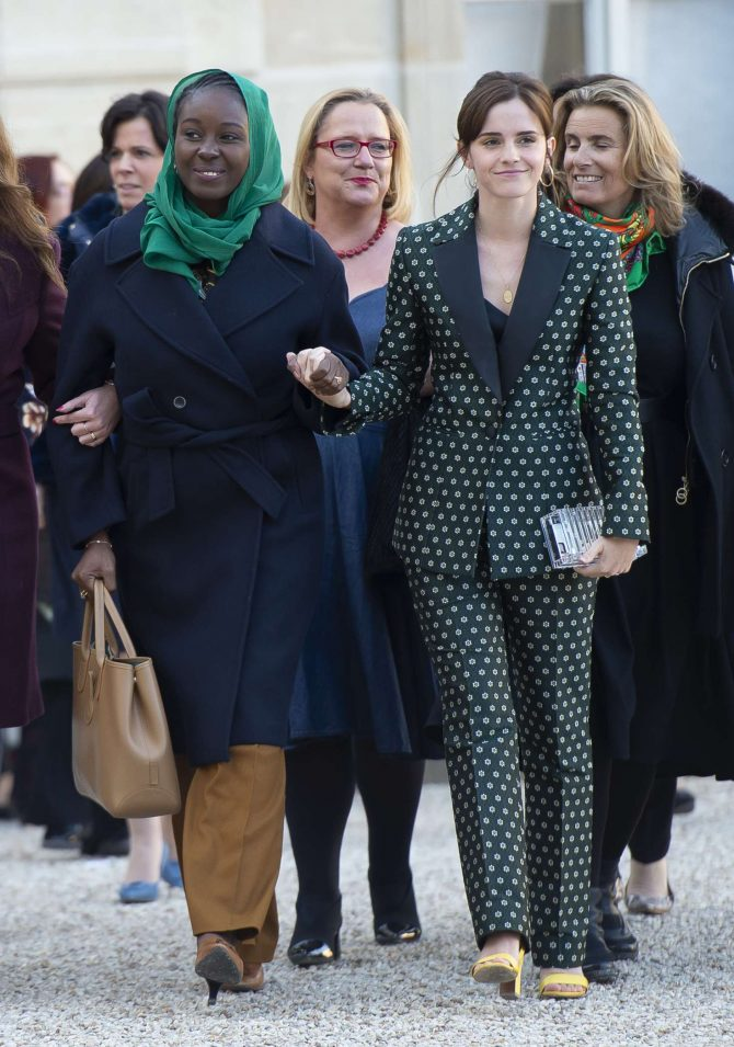 Emma Watson – Arrives at the First Meeting of the G7 Gender Equality Advisory Council in Paris