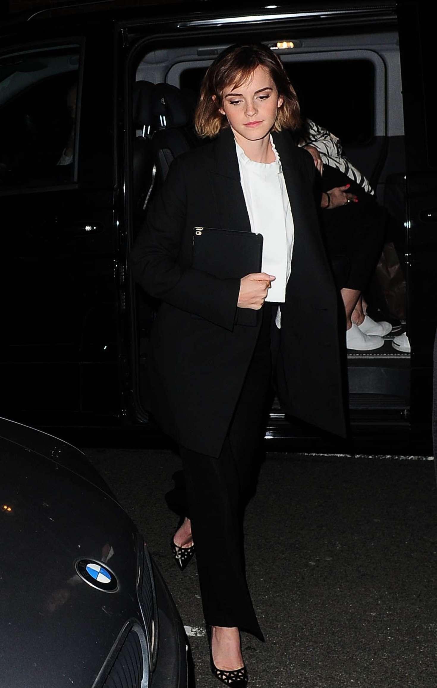 Emma Watson - Arriving at Emmanuel Center in Westminster