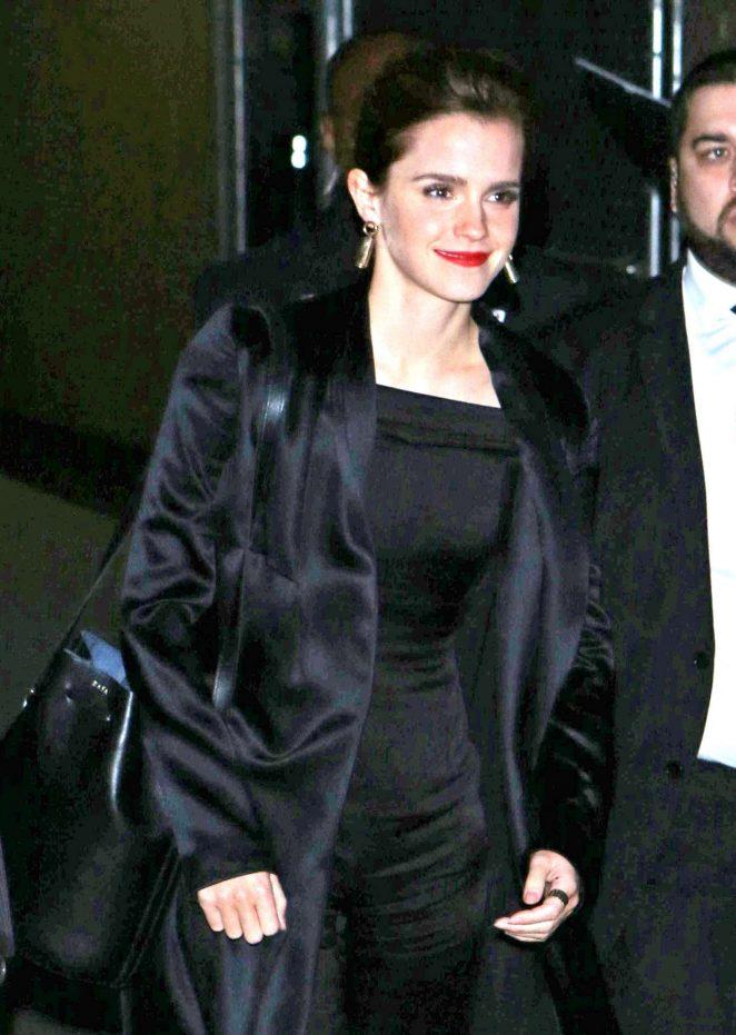 Emma Watson - Arriving at Jimmy Kimmel Live! in LA