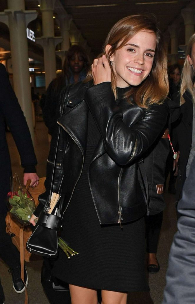 Emma Watson - Arriving at St Pancras station in London