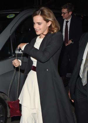 Emma Watson - Arriving at the after party of 'Beauty and the Beast' in London