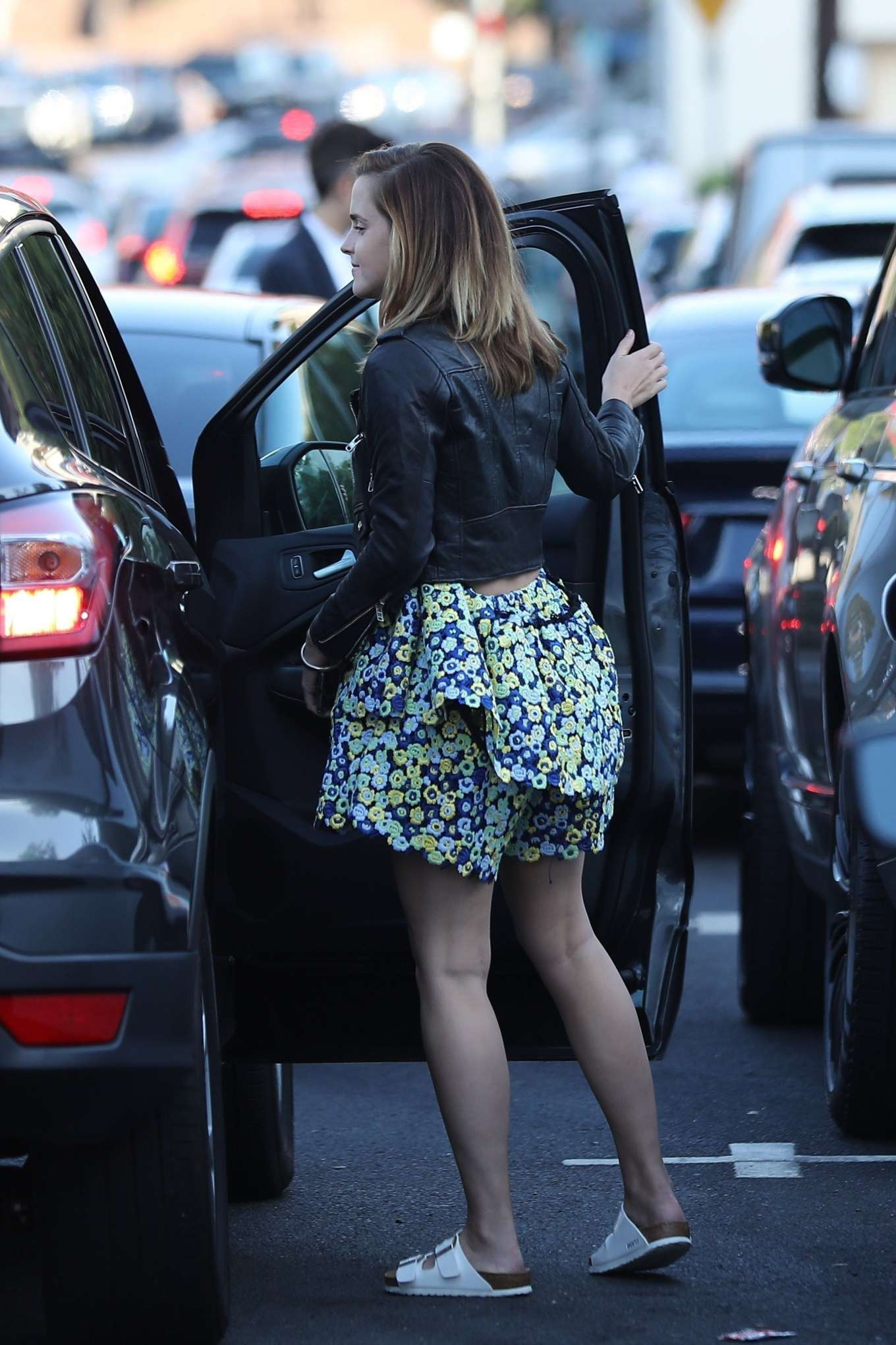 Emma Watson - arriving for a party at The Bungalow in West Hollywood