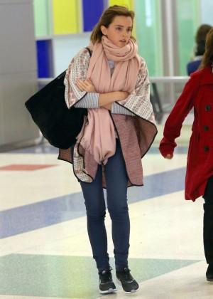 Emma Watson Arriving in New York