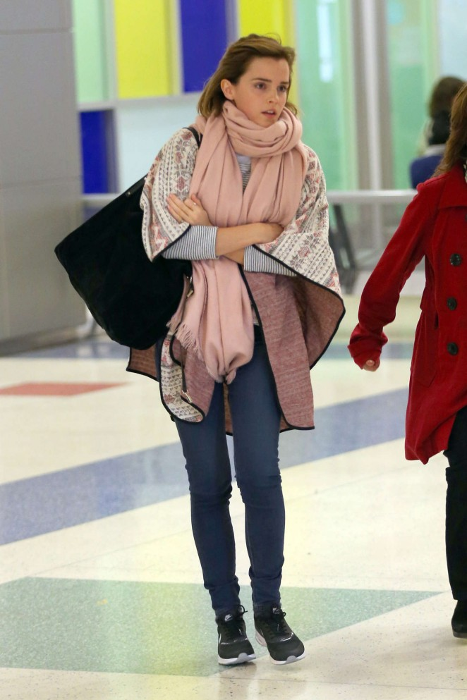 Emma Watson Arriving in New York