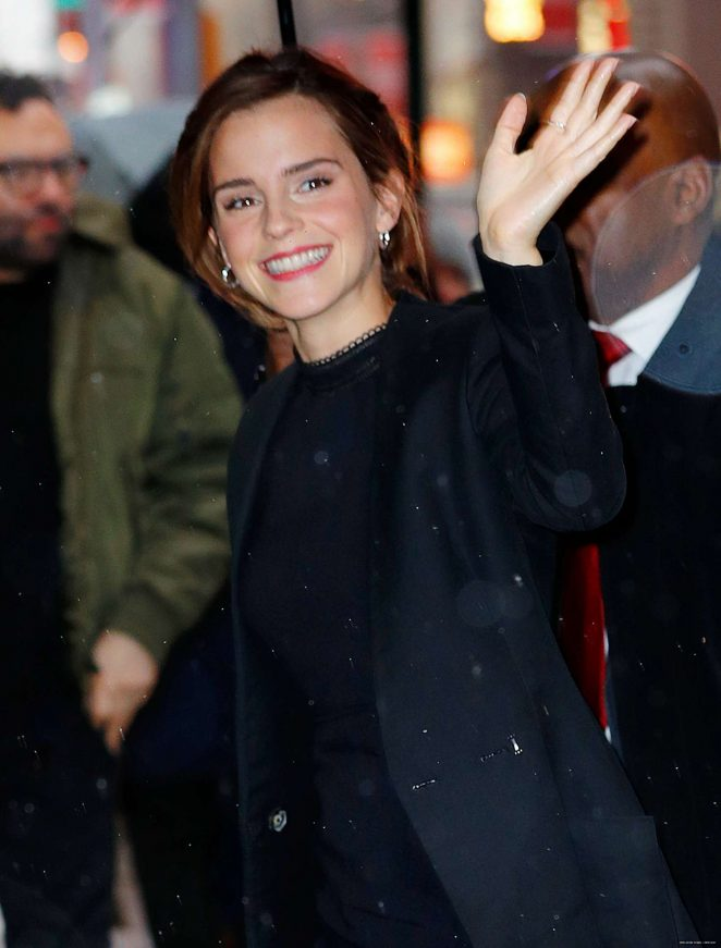 Emma Watson at Good Morning America in NYC