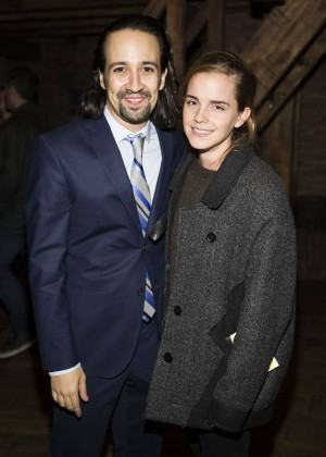 Emma Watson at 'Hamilton' at the Richard Rodgers Theatre in NYC