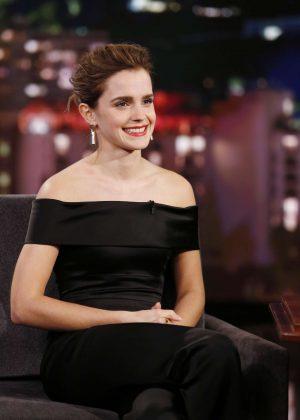 Emma Watson at Jimmy Kimmel Live! in Los Angeles