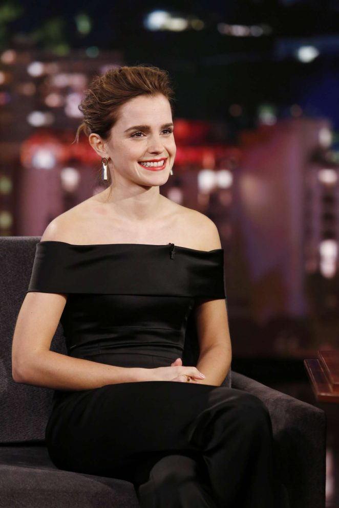 Emma Watson at Jimmy Kimmel Live! in Los Angeles