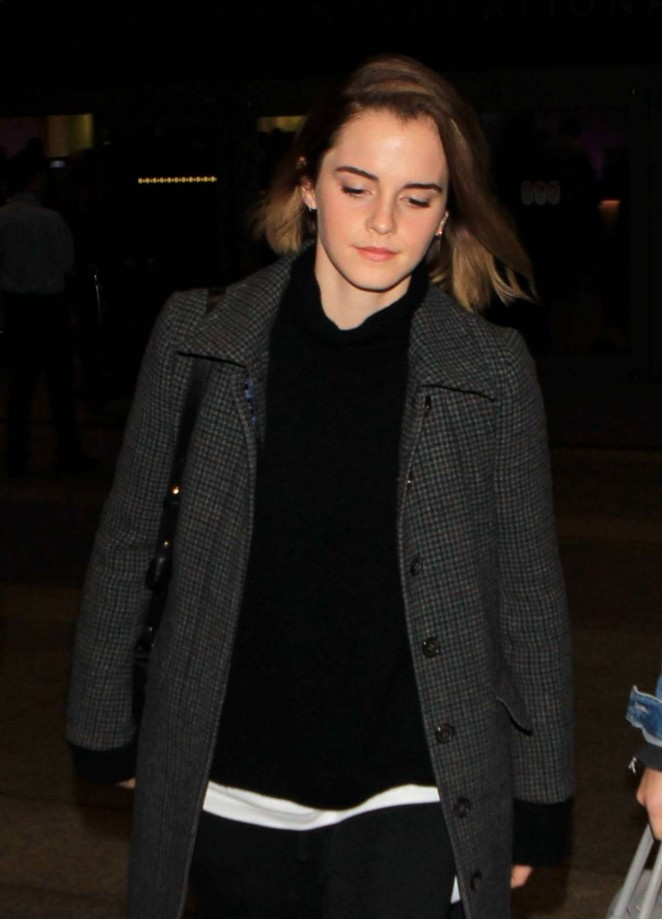 Emma Watson at Los Angeles International Airport