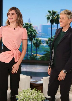 Emma Watson at The Ellen Degeneres Show in Burbank