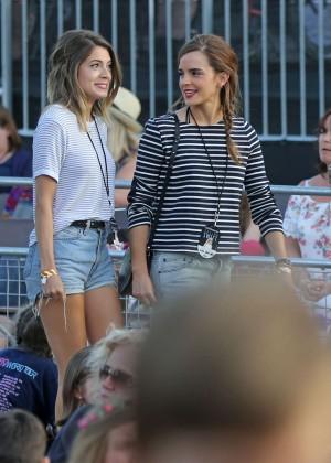 Emma Watson in Jeans Shorts -01