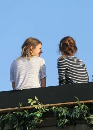 Emma Watson in Jeans Shorts -05