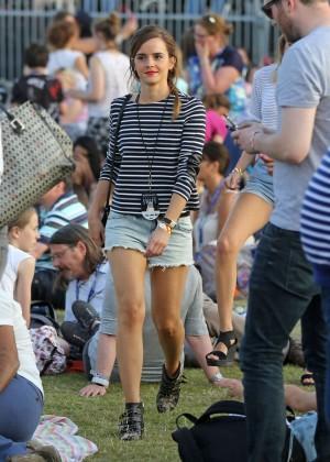 Emma Watson in Jeans Shorts -09