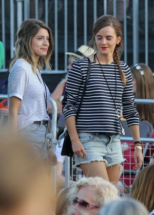 Emma Watson in Jeans Shorts -11