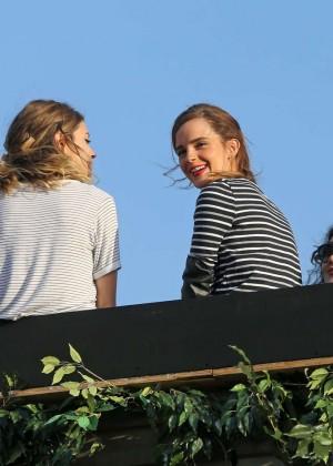 Emma Watson in Jeans Shorts -18