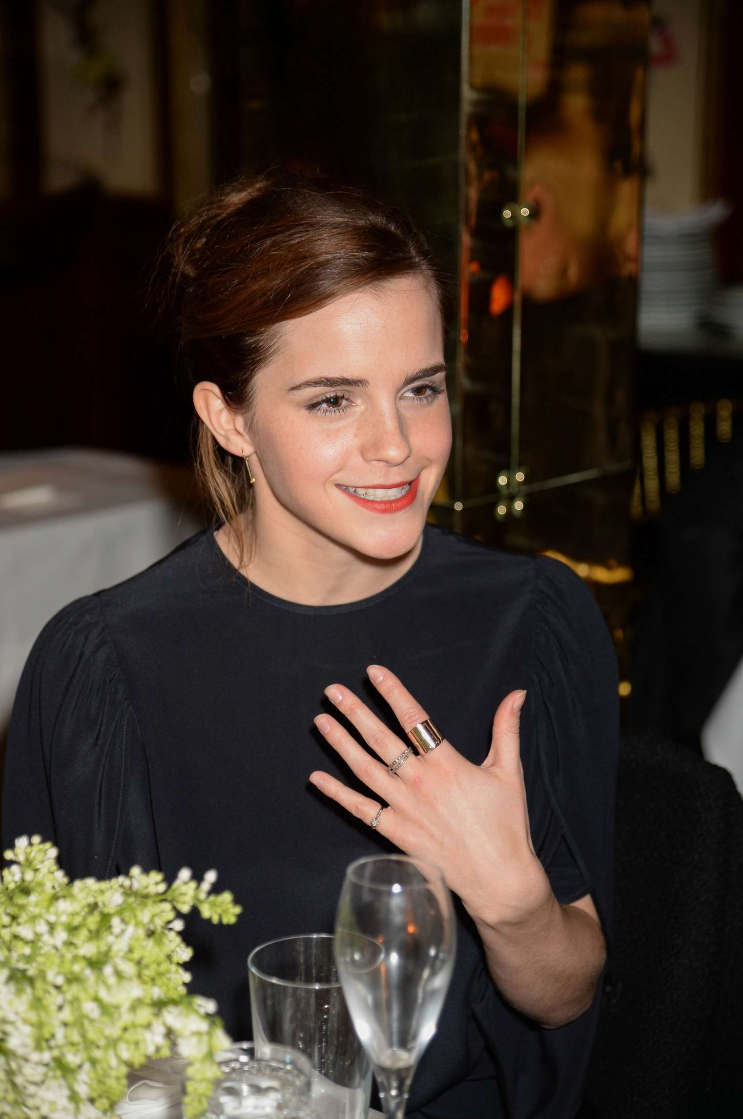 Emma Watson 2015 : LEmma Watson: Charles Finch and CHANEL Pre-BAFTA Party -02