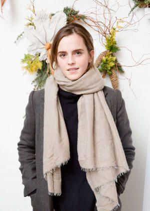 Emma Watson - Domino Magazine Holiday Pop UP in New York