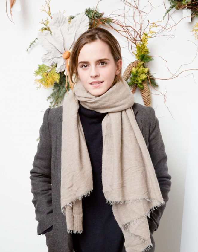 Emma Watson - Domino Magazine Holiday Pop UP in New York