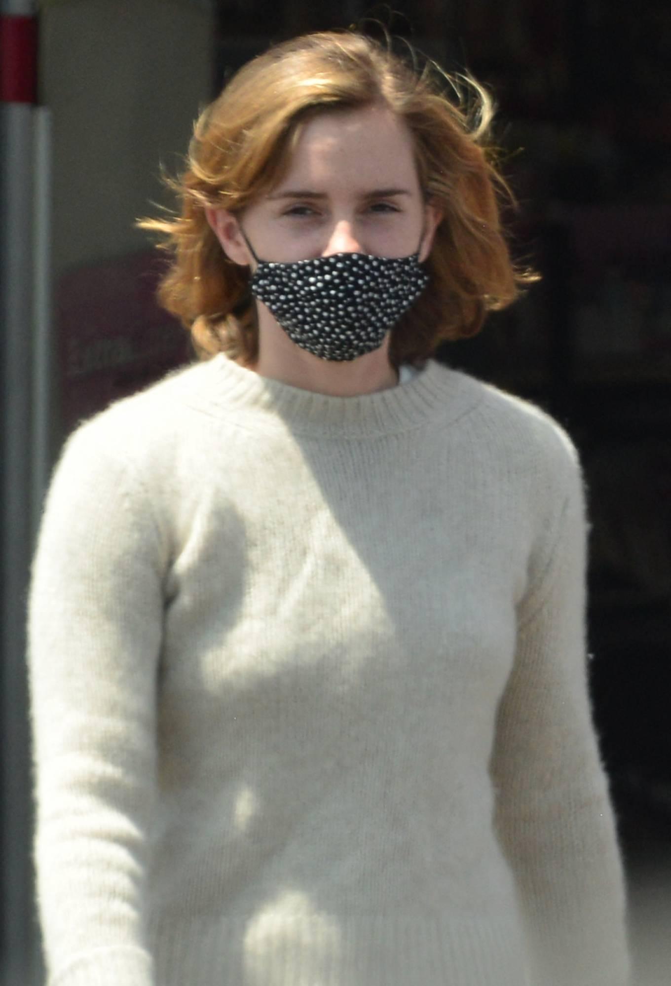 Emma Watson 2021 : Emma Watson – Dons pyjama-style with boyfriend Leo Robinton stop by a CVS in Los Angeles-23
