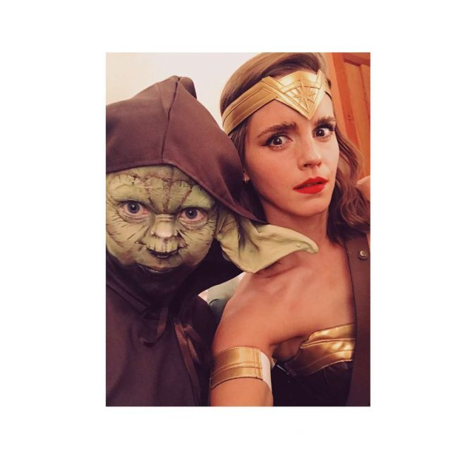 Emma Watson Dressed as Wonder Woman - Instagram