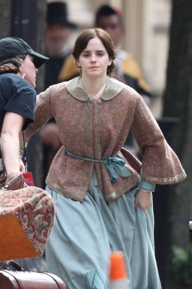 Emma Watson - Filming 'Little Women' in Boston