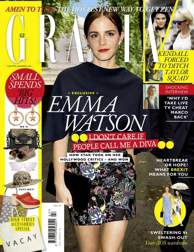 Emma Watson - Grazia UK Magazine (July 2016)