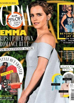 Emma Watson - Grazia UK Magazine (March 2018)