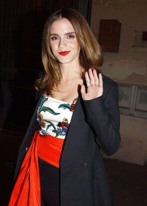 Emma Watson - Heads for Dinner in Paris