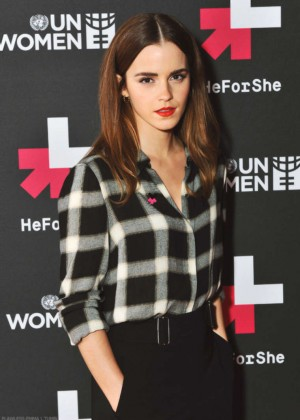 Emma Watson - HeForShe Campaign on Facebook in London