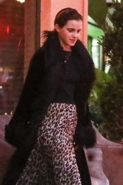 Emma Watson in Animal Print Skirt - Out in Santa Monica