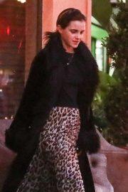 Emma Watson in Animal Print Skirt - Out in Santa Monica