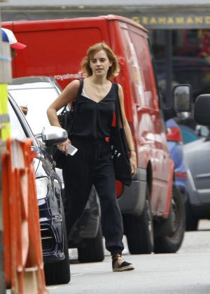 Emma Watson in Black Out in London