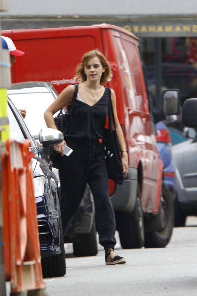 Emma Watson in Black Out in London