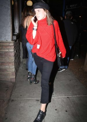 Emma Watson in Red Sweater - Arriving at Troubadour in Los Angeles