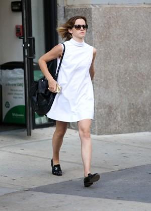 Emma Watson in White Mini Dress -01