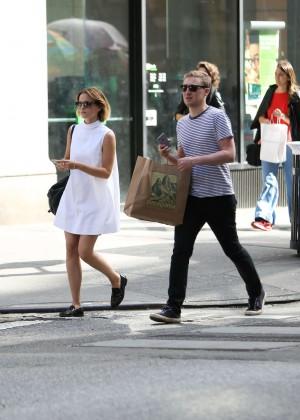 Emma Watson in White Mini Dress -02