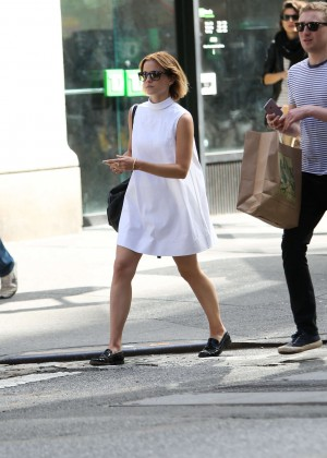 Emma Watson in White Mini Dress -03